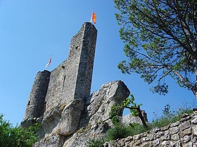 Aiguèze : Vestiges de l'ancienne forteresse