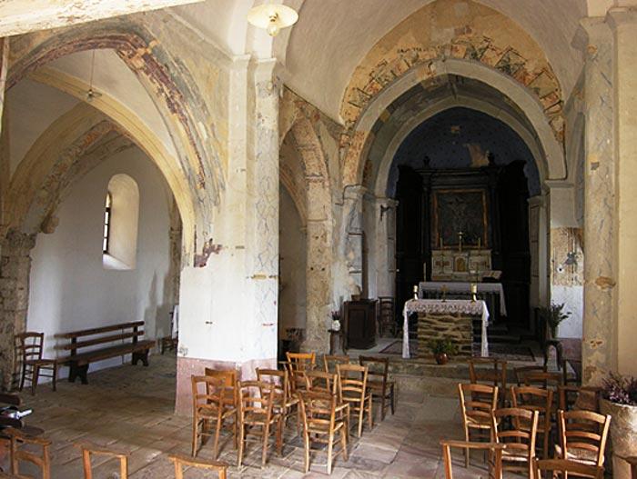 Patrimoine d 39 ard che 07 glise saint jean de pourcharesse for Interieur 18eme siecle